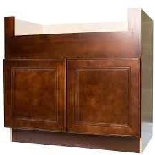 Cherry Mahogany Kitchen Cabinets 36 Inch Farmhouse Apron Sink Base Cabinet In Leo Saddle With 2