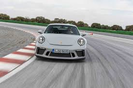 porsche 911 front view 2018 porsche 911 gt3 first drive review automobile magazine