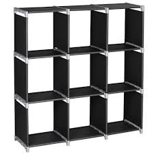 Cubic Bookcase 3tier 9 Compartment Storage Cube Closet Organizer Shelf 9 Cubes