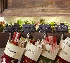 train stocking holder pottery barn