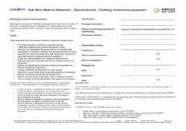 safe work method statement template plumbing contractor