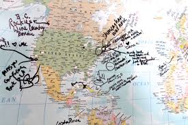 World Map With Pins by Our Travel Map Feathers And Stripes Boston Fashion And Travel Blog