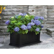 Black Planter Boxes by Outdoor Cape Cod Outdoor Black Rectangular Planter Box