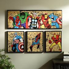 marvel superheroes canvas art prints set of 4 marvel canvas art