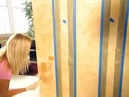 decorative paint technique painting parchment stripes on walls
