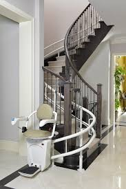 curved stairway chair operation independence llc stair photo lift