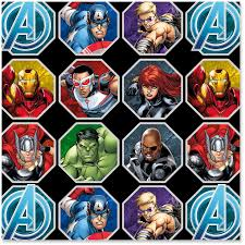 marvel wrapping paper marvel assemble wrapping paper roll 25 sq ft