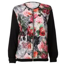 light bomber jacket womens womens black floral lightweight bomber jacket