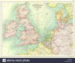 France Rail Map by British Isles Railways Steamer Routes France Belgium Holland