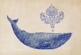 terry fan the whale art print damask whale as acrylic glass print by terry fan juniqe