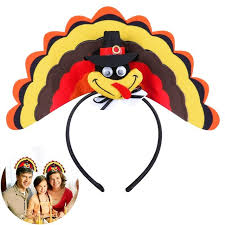 turkey headband bestoyard turkey headband hoop for thanksgiving day costume