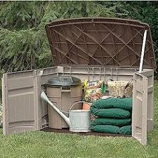Suncast 97 Gal Resin Outdoor 97 Gal Resin Outdoor Patio Cabinet Browns Tans Patios