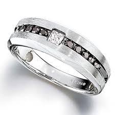 2 s ring men s 1 2 ct t w enhanced black and white diamond ring in