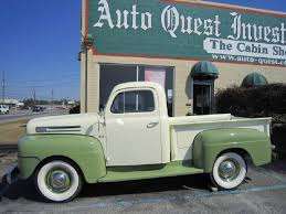 1950 ford up truck 1950 ford f100 flathead v 8 up olive green and white