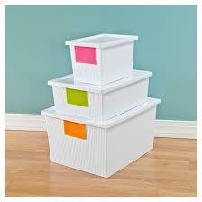 Sterilite Showoffs Storage Container - sterilite 5 4 qt storage tote white target