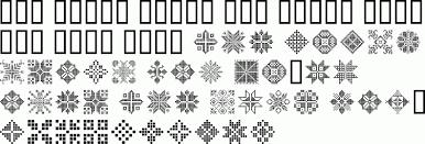 swiss folk geometric ornaments premium font buy and