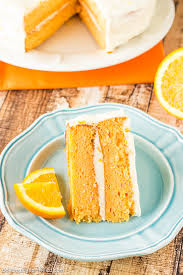 Pretty Orange Orange Cream Cake Deliciously Sprinkled