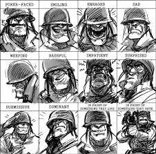 soldier expressions meme by kgbigelow on deviantart