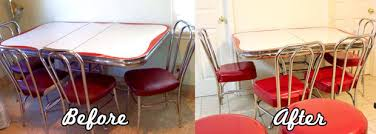 Retro Table Refinish Retro Vinyl Kitchen Chairs 5 Steps With Pictures