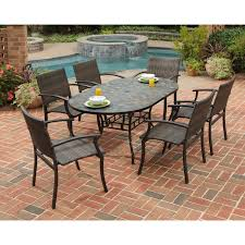 Newport Wicker Patio Furniture Home Styles Stone Harbor Mosaic Outdoor Dining Set Hayneedle