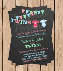 sip and shop invitation twins baby shower invitations for twins with by katiedidesigns