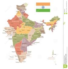 Mumbai India Map by India Vintage Map And Flag Illustration Stock Illustration
