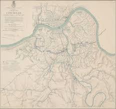 Map Cincinnati Topographical Map Showing Defenses Of Cincinnati Covington And