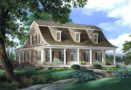 20 examples of homes with gambrel roofs photo examples gambrel roof with sloped dormers the bottom of the gambrel flares outward with a slight