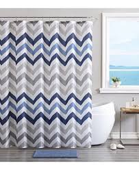 Bathroom Rug And Shower Curtain Sets Vcny Chevron Bath Rug Shower Curtain And Shower Hooks Set