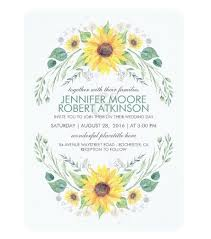 sunflower wedding invitations 5 sunflower wedding invitations to brighten your day