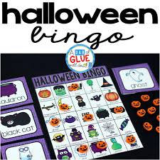 free printable halloween bingo game cards halloween bingo a dab of glue will do