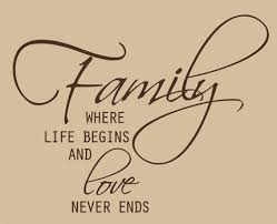 family quotes sayings on family wall