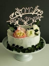 wedding cake toppers laser cut wedding cake topper omg we re married light paper