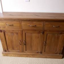 decor distressed buffet table and rustic sideboard