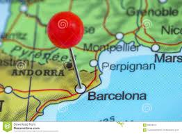 A Map Of Spain by Barcelona On A Map Stock Photo Image 49605369