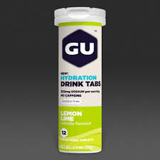 gu energy hydration drink tabs x 12 lemon lime nutrition