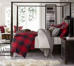 Red And White Buffalo Check Curtains Buffalo Check Duvet Cover U0026 Sham Pottery Barn I Decorate