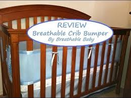breathable mesh crib liner bumper review youtube
