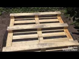 Raised Garden Beds From Pallets - how to make a raised garden bed using pallets youtube