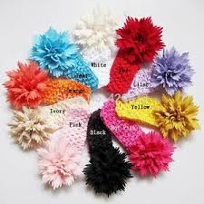 crochet flower headband 6 pcs elastic baby toddler crochet flower headband
