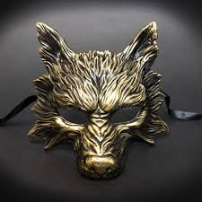 men masquerade masks wolf animal masquerade mask men m31189 beyond party supplies toys