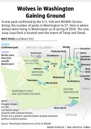 Wenatchee Washington Map by New Wolf Pack In Washington The Seattle Times