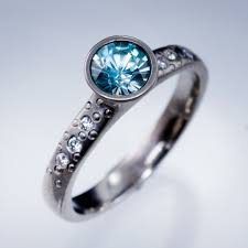 zircon engagement rings zircon elevated bezel dust engagement ring