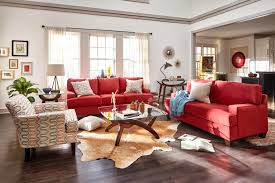 Red Sofa Furniture Get The Look Eclectic Boho Value City Furniture