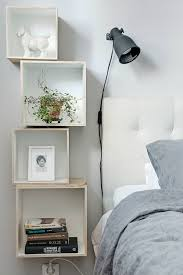 box shelves as bedside tables for small spaces slaapkamer