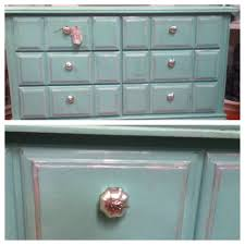 diy chalk painted turquoise dresser using calcium carbonate paint
