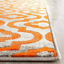 Orange And Grey Rugs Rug Prl7734f Porcello Area Rugs By Safavieh