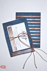 Wedding Cards Invitation Navy U0026 Copper Wedding Invitations With Diy Copper Cord Bind The