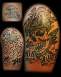 crawling army skull 2018 tattoos