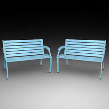 pair of art deco cast iron garden benches 1930 to 1938 united